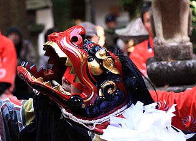 伊作田稲荷神社の例大祭