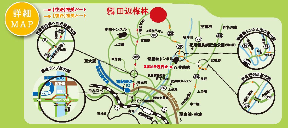 田辺石上梅林詳細MAP
