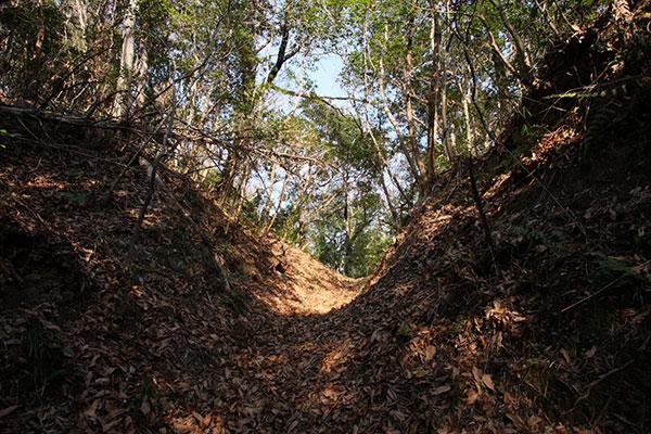 新庄峠の掘割